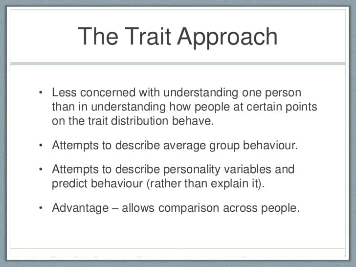 Image result for trait approach to personality