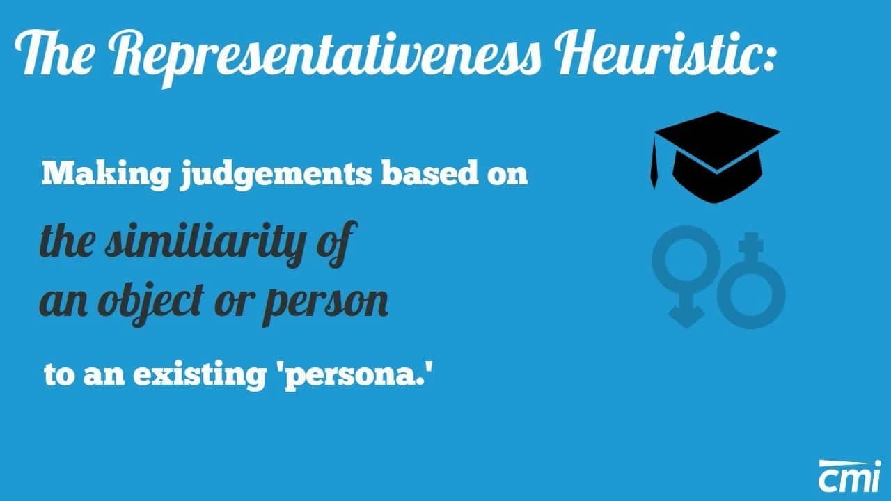 Image result for representativeness heuristic