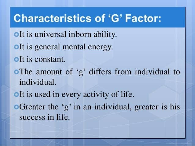 Image result for g-factor theory